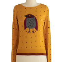 Yumi Critters Mid-length Long Sleeve Winning Warbler Sweater