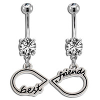 Best Friends Infinity Symbol Belly Ring