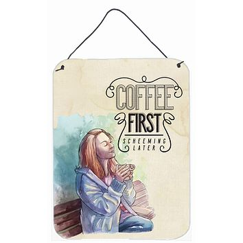Coffee First Sign Wall or Door Hanging Prints BB5403DS1216