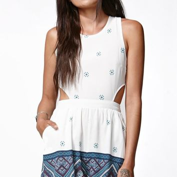 Kendall & Kylie Cutout Side Tank Romper - Womens Dress - Multi