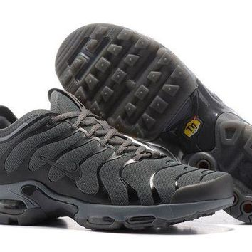 ONETOW Jacklish Mens Nike Air Max Plus Tn Ultra Dark Grey-black For Sale
