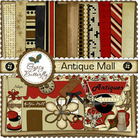 Digital Scrapbooking kit - Antique Mall - clipart and digital papers