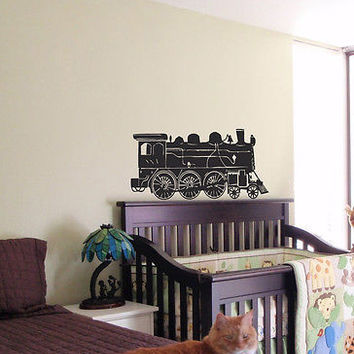 KIDS WALL ART STICKER BABY ROOM NURSERY BOY GIRL BEDROOM FUNNY TRAIN LIONEL 12