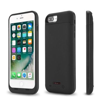 Ultra Black Coloured Mobile Top Quality Charger Case Cover for Apple iPhone 7...