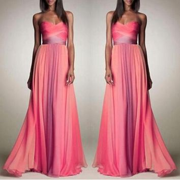 ONETOW Wrap Gradient Shaped Sexy Prom Dress Hot Sale One Piece Dress [4919141764]