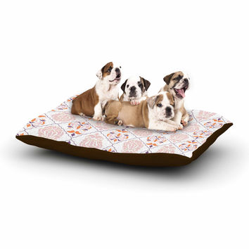 "Neelam Kaur ""Modern Reminisence"" White Pink Dog Bed"
