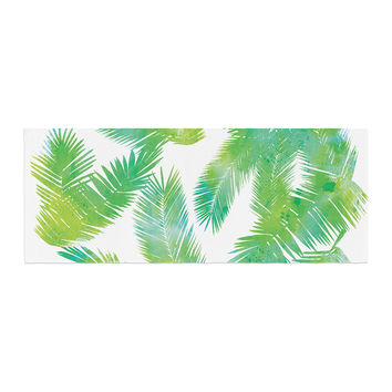 "Draper ""Tropic Summer"" Green Nature Bed Runner"