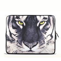 "White Tiger Face 15"" 15.4"" 15.6"" inch Notebook Laptop Case Sleeve Carrying bag for Apple MacBook Pro 15 15.4 /Dell Inspiron 15R Vostro XPS Alienware M15X /ASUS A55 K55 N56 X54 /Sony E15 S15 EL2/Lenovo ThinkPad E530 /HP Acer"