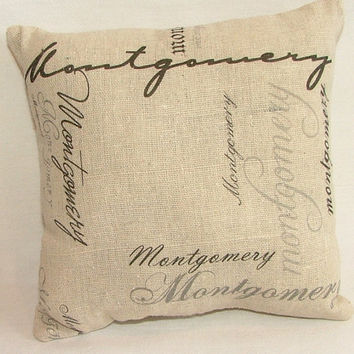SALE - Custom Last Name Pillow