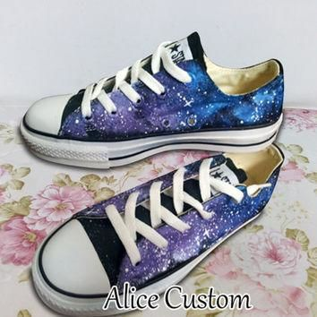Converse Galaxy Low waist Shoes-Hand Paint Converse Sneakers, Custom Converse,Special