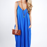Picture Perfect Maxi Dress - Royal Blue