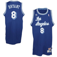 Los Angeles Lakers Kobe Bryant #8 Throwback Away Blue Jersey