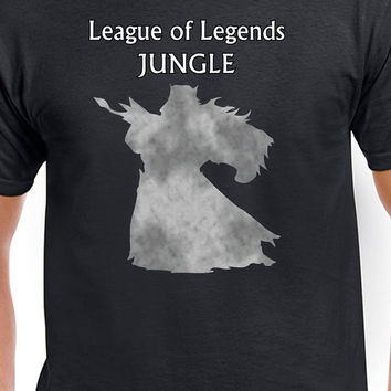 League Of Legends T-Shirt Jungle Udyr Jungling in Style Gaming MOBA T-Shirt