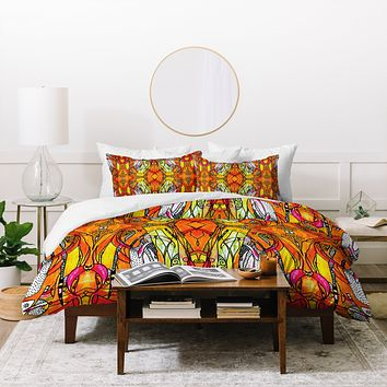 Ingrid Padilla Orange Crush Duvet Cover