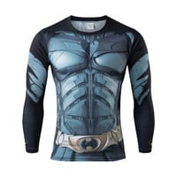 DC inspired Men's Long Sleeve Compression Shirts