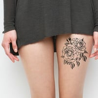 Twin Rose Temporary Tattoo Set of 2 by Tattify on Etsy