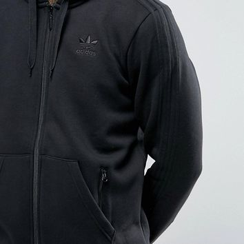 adidas Originals TRF Series Fullzip Hoodie In Black BK5897 at asos.com