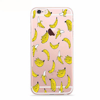 Tropical Banana Fruit Print Case for iPhone