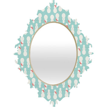 Allyson Johnson Cute Snowmen Baroque Mirror