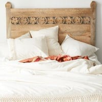 Plum & Bow Pranati Carved Headboard- Light Brown Full/queen