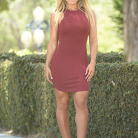 Terry Dress - Burgundy