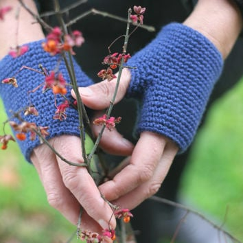 Hand Crochet grey Gloves. Arm Warmers. Gift for her.
