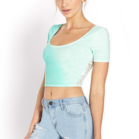 Trace of Lace Crop Top