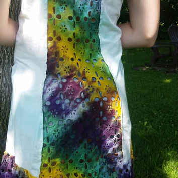 Medium bathing suit cover tie dye dress