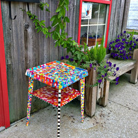 Recycled Art: A Garden Table to Warm Your Heart
