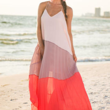 Completely Captivated Maxi Dress, Peach