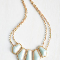 Statement Gilded Finesse Necklace by ModCloth