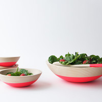 Salad Serving Set, Beech Wood {2 color options}