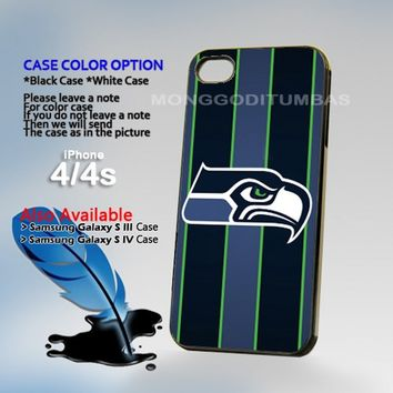 Seattle Seahawks Photo On Hard Plastic iPhone 4 4S Case