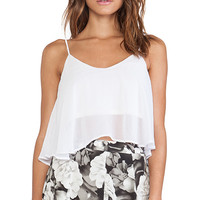 Show Me Your Mumu Charlie Crop Top in White