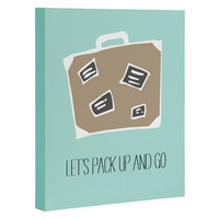 Allyson Johnson Lets pack up and go Art Canvas