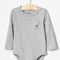 Gap Baby Long Sleeve Solid Bodysuit