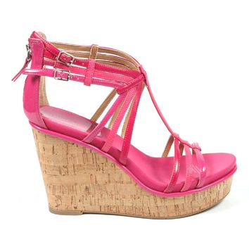 Nine West Womens Espadrille Wedge Sandal NWROMANCING PINK MUL Y
