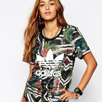 shosouvenir: adidas  Camouflage print women fashion tops sports shirt blouse