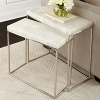 John-Richard Collection Taylor Stainless Steel Nesting Tables