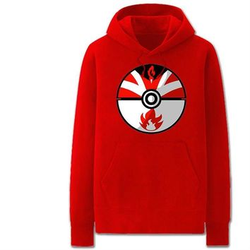 Poke Ball in  Go Style Hooded Hoodies Anime Pocket Monster Men Hoody Sweatshirts Sportswear Women Hooded JacketKawaii Pokemon go  AT_89_9