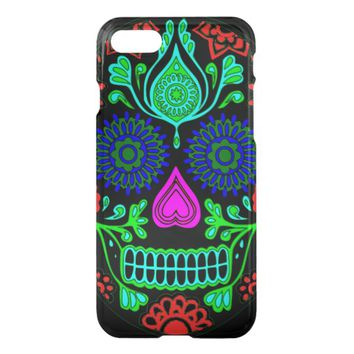 Colorful Sugar Skull Apple iPhone 7 Case