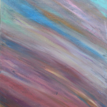 "Art, Artwork, Free Shipping, Affordable, Original, One of a kind, Abstract, Décor, Wall hanging, Canvas, Colorful, ""SKY"",16x20"
