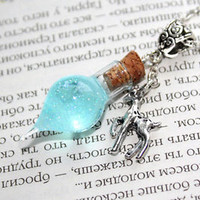 Snape's Tears Memories Glass Bottle Vial, Dow Patronus Necklace. Harry Potter