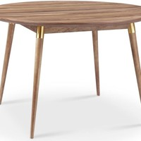 Victory Round Dining Table WALNUT/GOLD