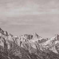 Mt Whitney Photography, Sierra Nevada Mountains California John Muir Trail Fall Autumn Winter Bohemian Print Travel Black and White