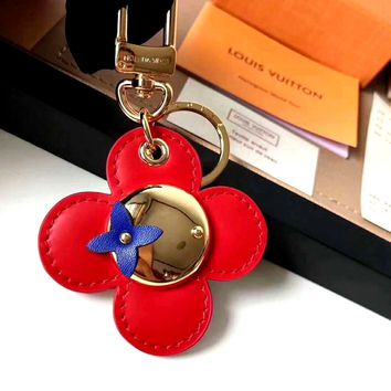 LV 2019 new high-grade braided rope car keychain for men and women