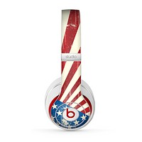The Vintage Tan American Flag Skin for the Beats by Dre Studio (2013+ Version) Headphones
