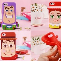 Disney 3D Toy Story 3 Silicone Rubber Soft Full Case Cover For iPhone 5 5S 5C 4S