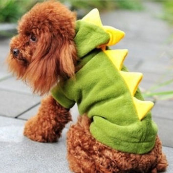 2015 Pet Dogs Puppy Cat Dinosaur Pretty Hoodie Dress Up Clothes = 1714489796