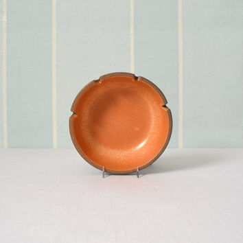 Heath Ceramics Pumpkin and Brown Ashtray